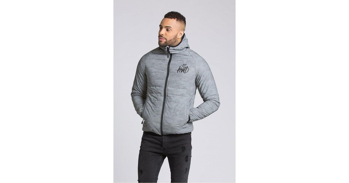 d4a28b58ca74e Kings Will Dream Elthrone Camo Reflective Puffer Jacket in Gray for Men -  Lyst
