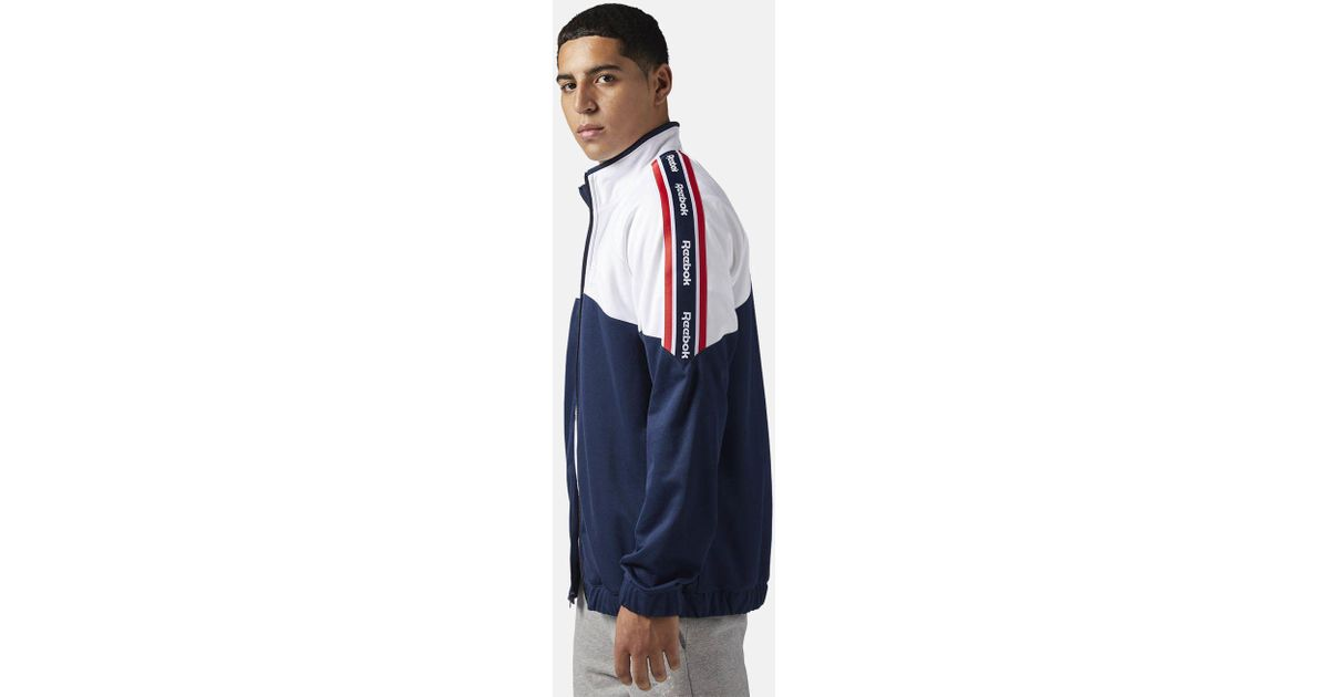 a2a9175449b Lyst - Reebok Classics Franchise Track Top in Blue for Men
