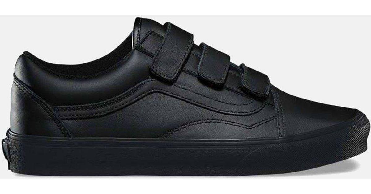 Lyst - Vans Old Skool Velcro (mono Leather) in Black for Men 619723e1c