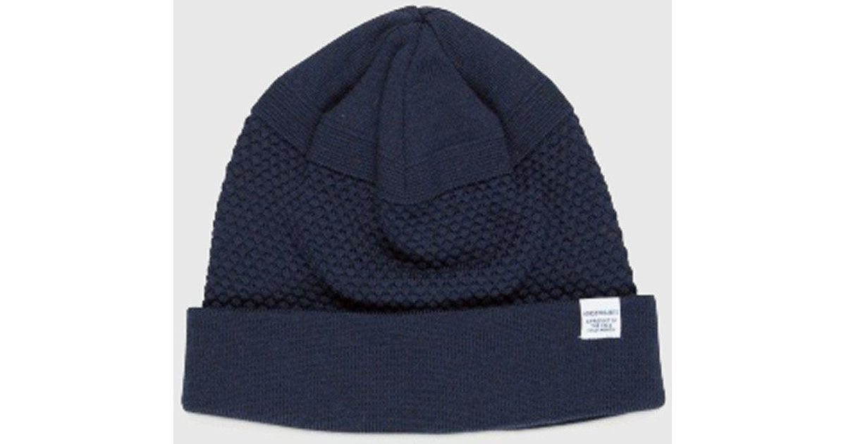 3d6302666 Norse Projects - Blue Bubble Beanie Hat for Men - Lyst
