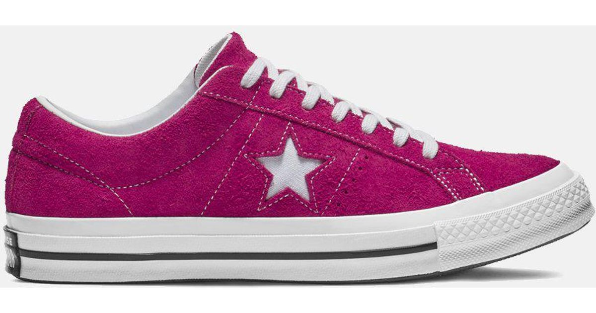40725938e5a7 Lyst - Converse One Star Ox Low Suede (162575c) in Pink for Men