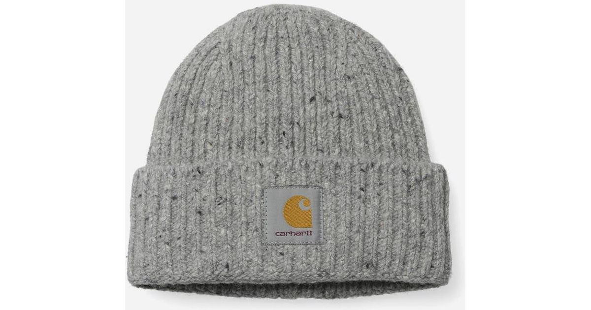 97731517 Carhartt Anglistic Beanie Hat in Gray for Men - Lyst