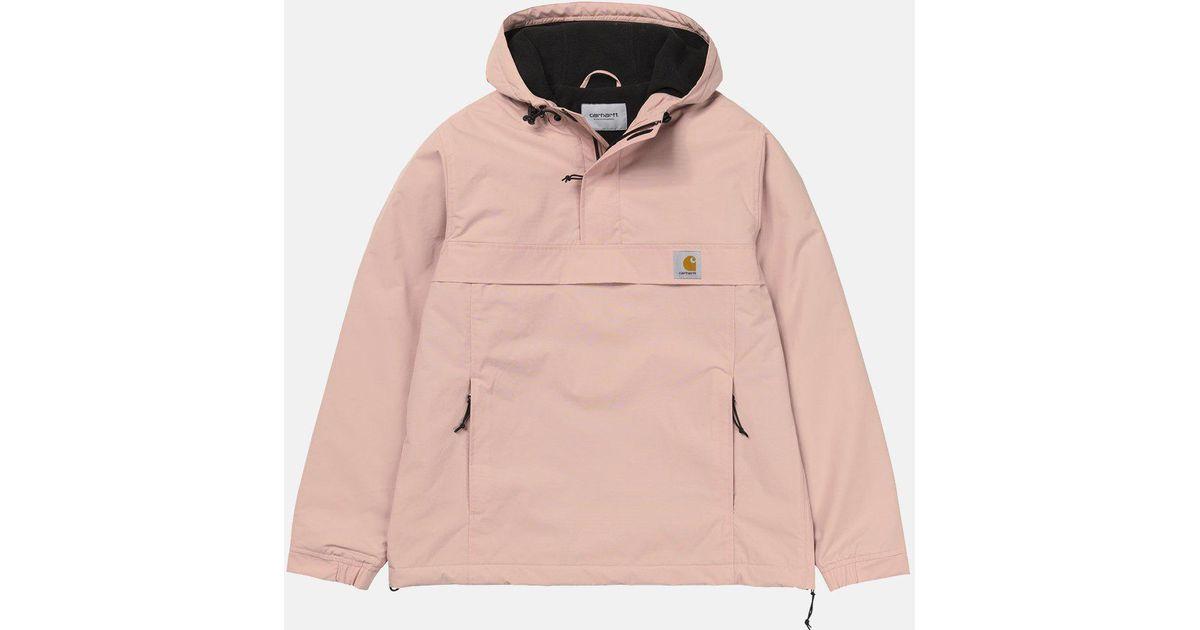 654c2cc910595 Carhartt Nimbus Half-zip Jacket (fleece Lined) in Pink for Men - Lyst