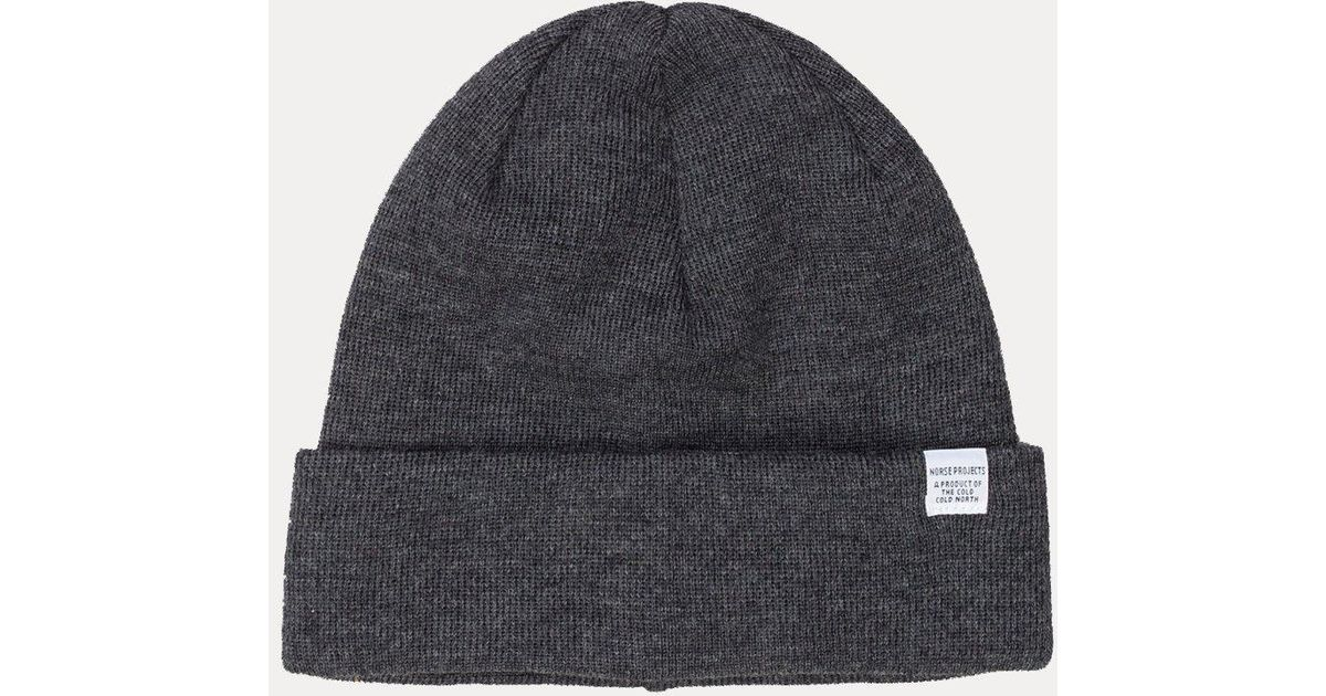 dad5ee30625 Norse Projects Norse Top Beanie in Gray for Men - Save 35% - Lyst