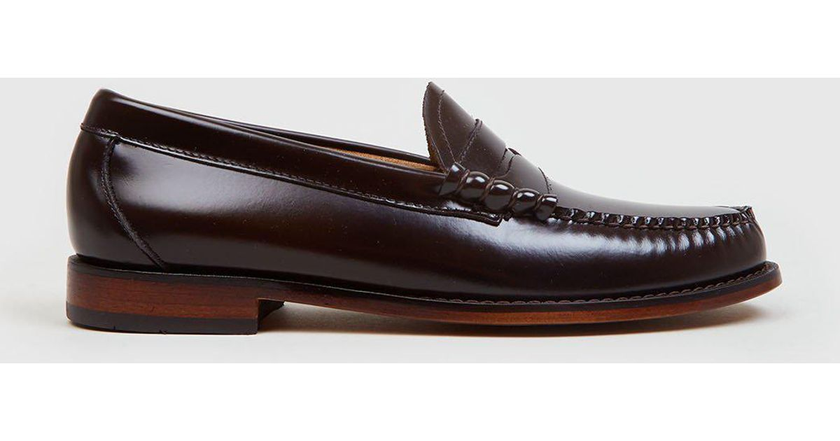 82d522169bf G.H.BASS Bass Weejun Larson Penny Leather Loafers in Brown for Men - Lyst
