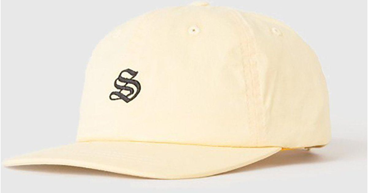 f4a37846a4a48 Lyst - Stussy Bio Washed Low Cap in Yellow for Men