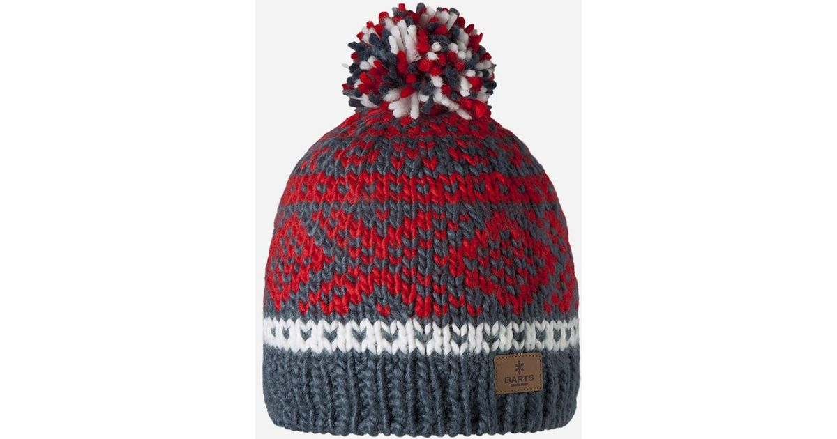 b8f221a7fea Lyst - Barts Log Cabin Beanie Hat in Red for Men