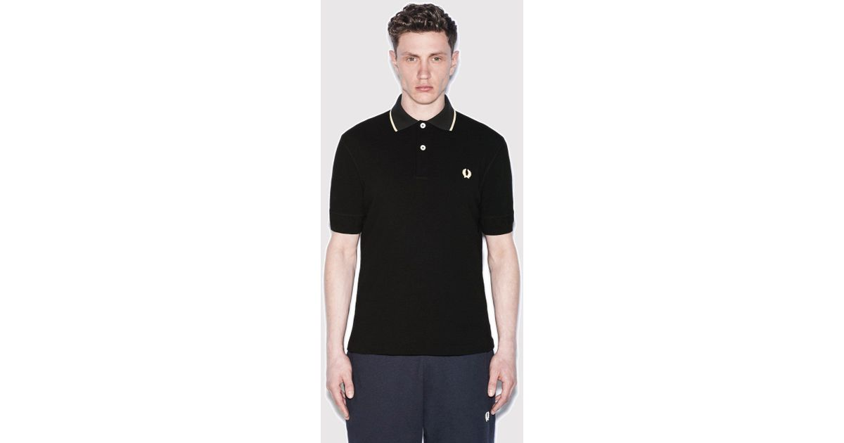 905032cfaa973b Lyst - Fred Perry X Nigel Cabourn Training Pique Shirt in Black for Men