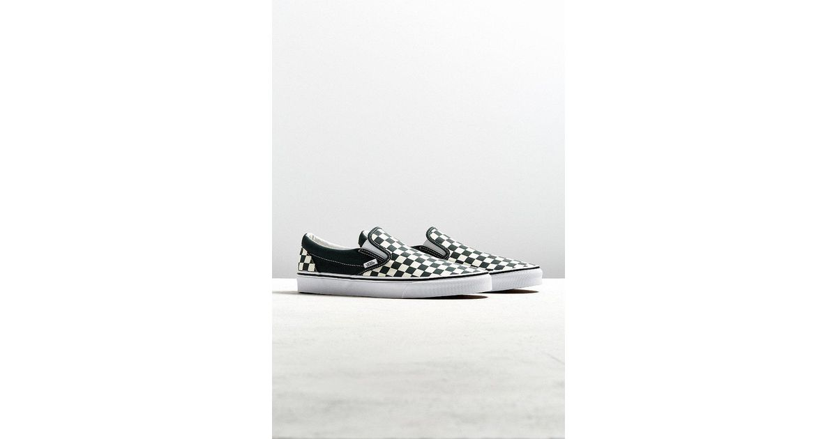 5b4a5239f0 Lyst - Vans Vans Slip-on Scarab Checkerboard Sneaker in Green for Men
