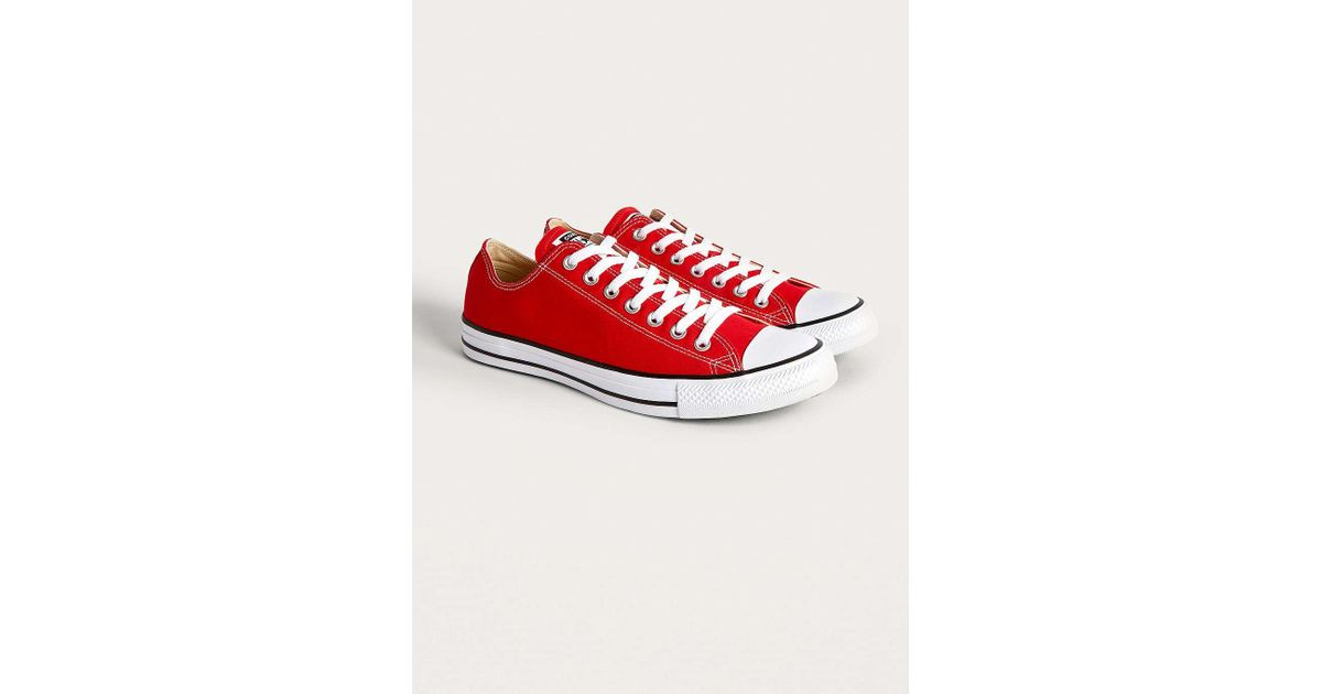 2bcd33312016 Converse Chuck Taylor All Star Ox Red Low Top Trainers - Mens Uk 8 in Red  for Men - Lyst