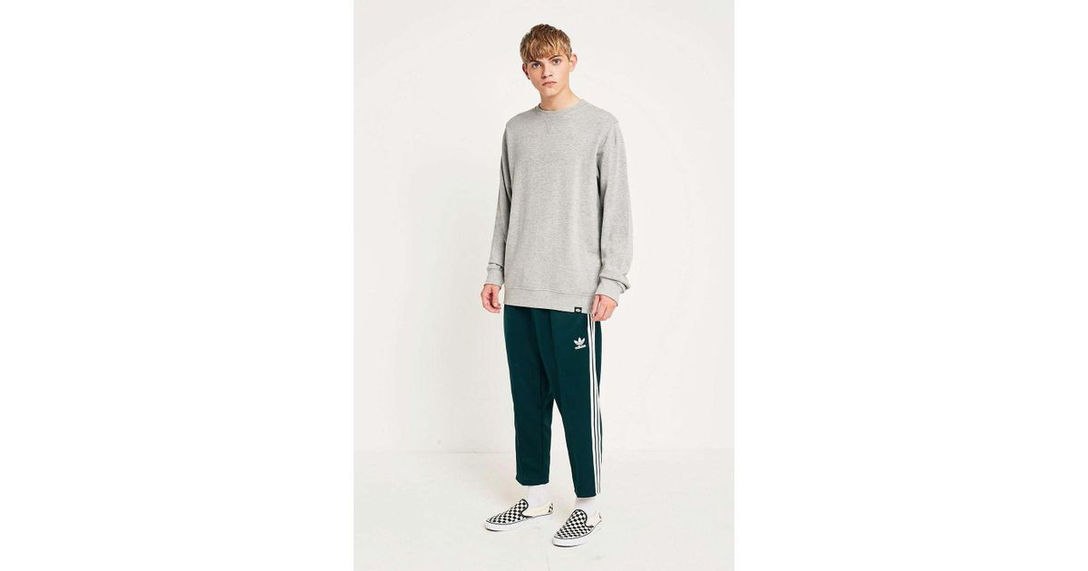 Adidas Green Night Sst Relaxed Crop Track Pants for men