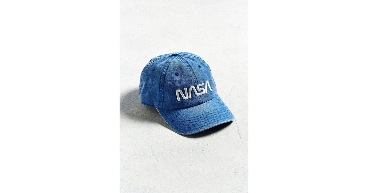 Lyst - Urban Outfitters Nasa Pigment-dyed Dad Hat in Blue for Men acbcb6e03abc
