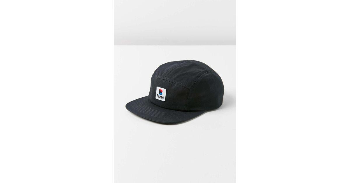 Lyst - Brixton Stowell 5-panel Hat in Black cd642540b98