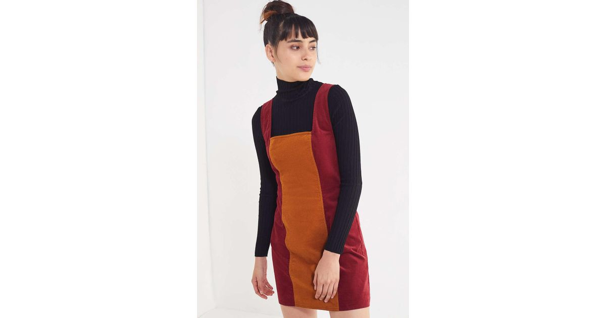 7f34e75bcc Urban Outfitters Uo Taylor Uncut Corduroy Colorblock Dress - Lyst
