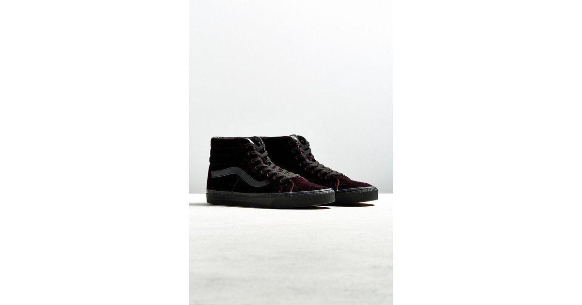 c749f6310e01 Lyst - Vans Vans Sk8-hi Reissue Burgundy Velvet Sneaker in Black for Men