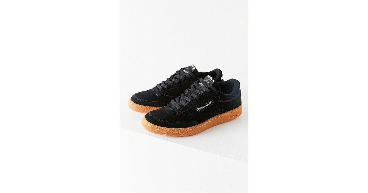 de820681026 Lyst - Reebok Reebok Club C 85 Ms Gum Sole Sneaker in Black