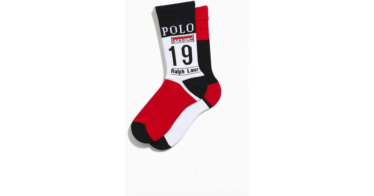 cba62ae31 Polo Ralph Lauren Winter Stadium P-wing Sock in White for Men - Lyst