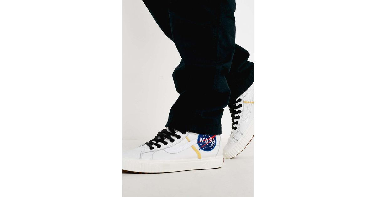 6bae3d3864749b Vans Space Voyager Sk8-hi Nasa White Trainers - Mens Uk 8 in White for Men  - Lyst