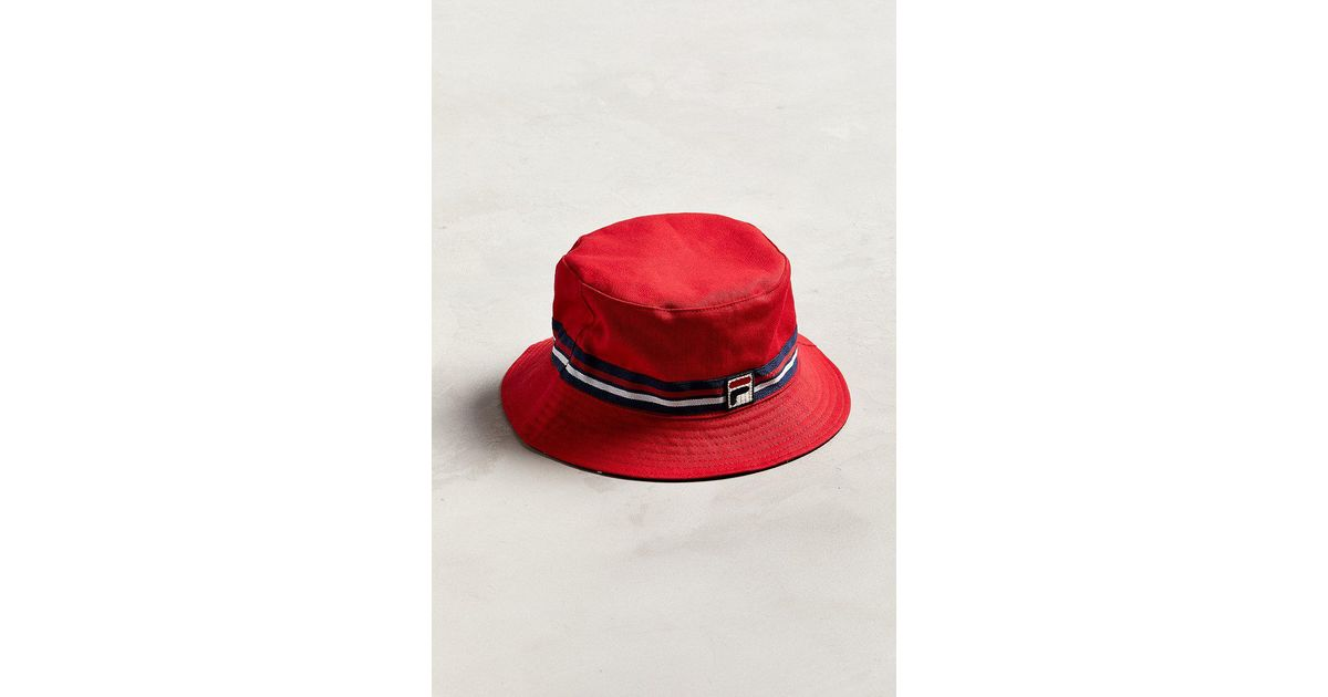 a87ed7e5919e Lyst - Fila Fila Reversible Bucket Hat in Red for Men