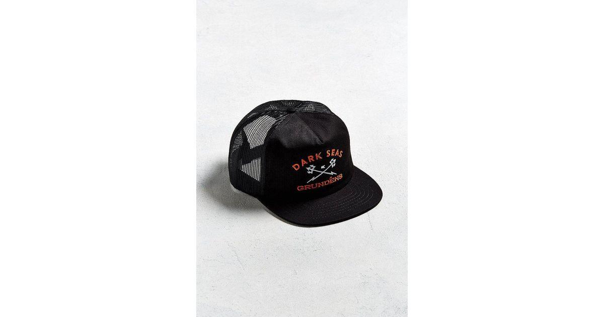 Lyst - Dark Seas X Grundens Trucker Hat in Black for Men f1948957d6a4