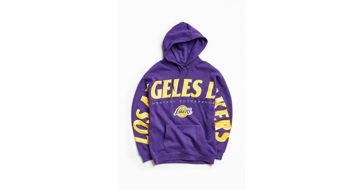 competitive price 8f474 eb5a5 Urban Outfitters Nba Los Angeles Lakers Wingspan Hoodie Sweatshirt in  Purple for Men - Lyst
