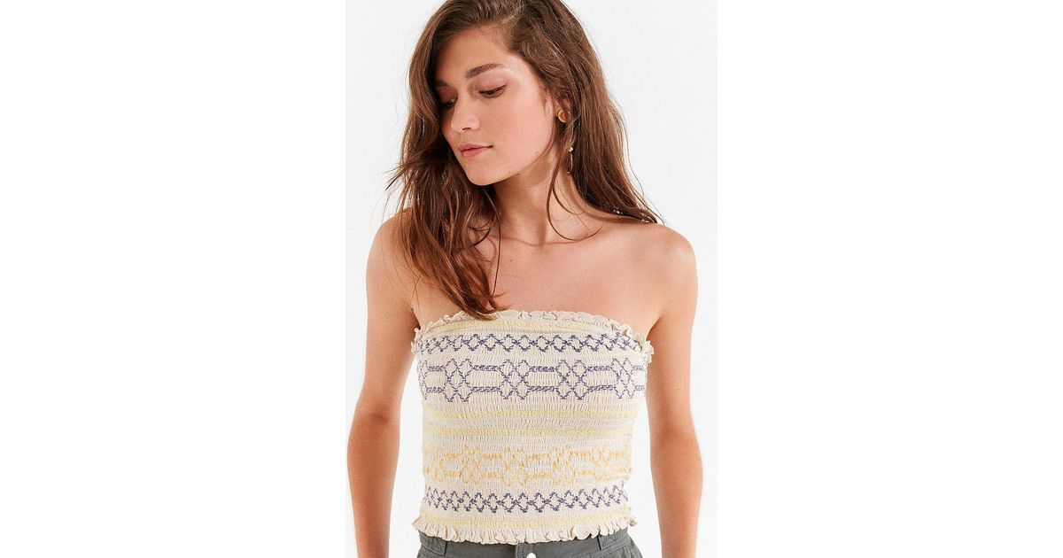 b0f5260b99e Urban Outfitters Uo Moko Smocked Tube Top - Lyst