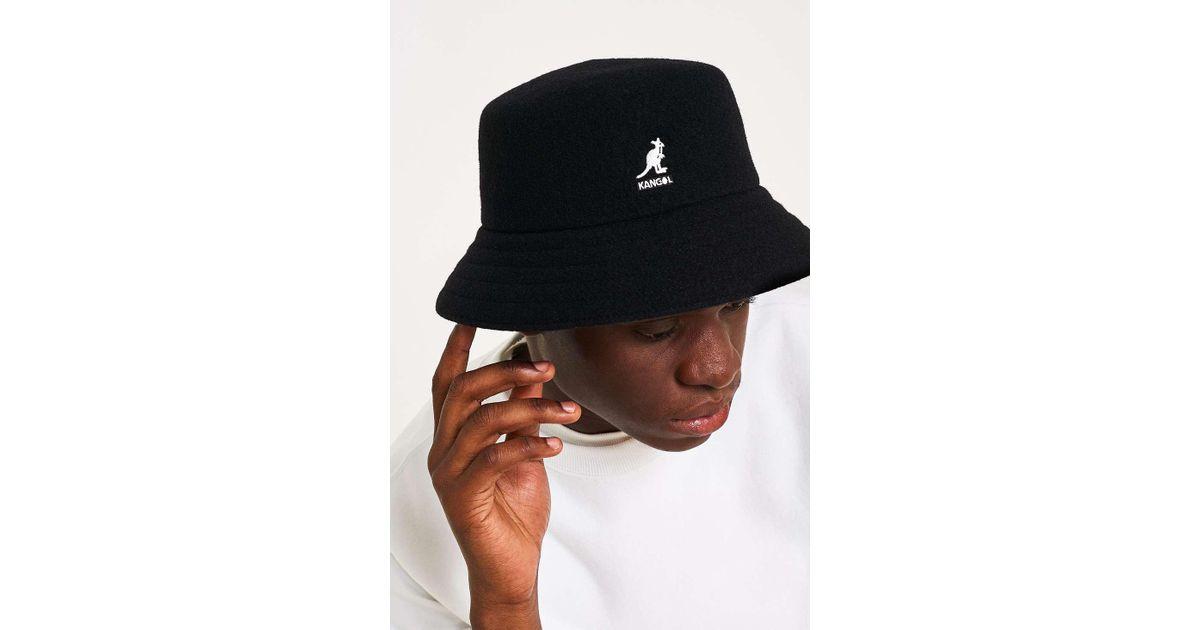 df059bcebd55c7 Kangol Wool Lahinch Black Bucket Hat - Mens L in Black for Men - Lyst