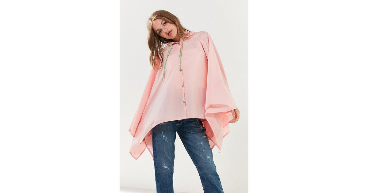 Lyst Urban Outfitters Morgan Rain Poncho In Pink