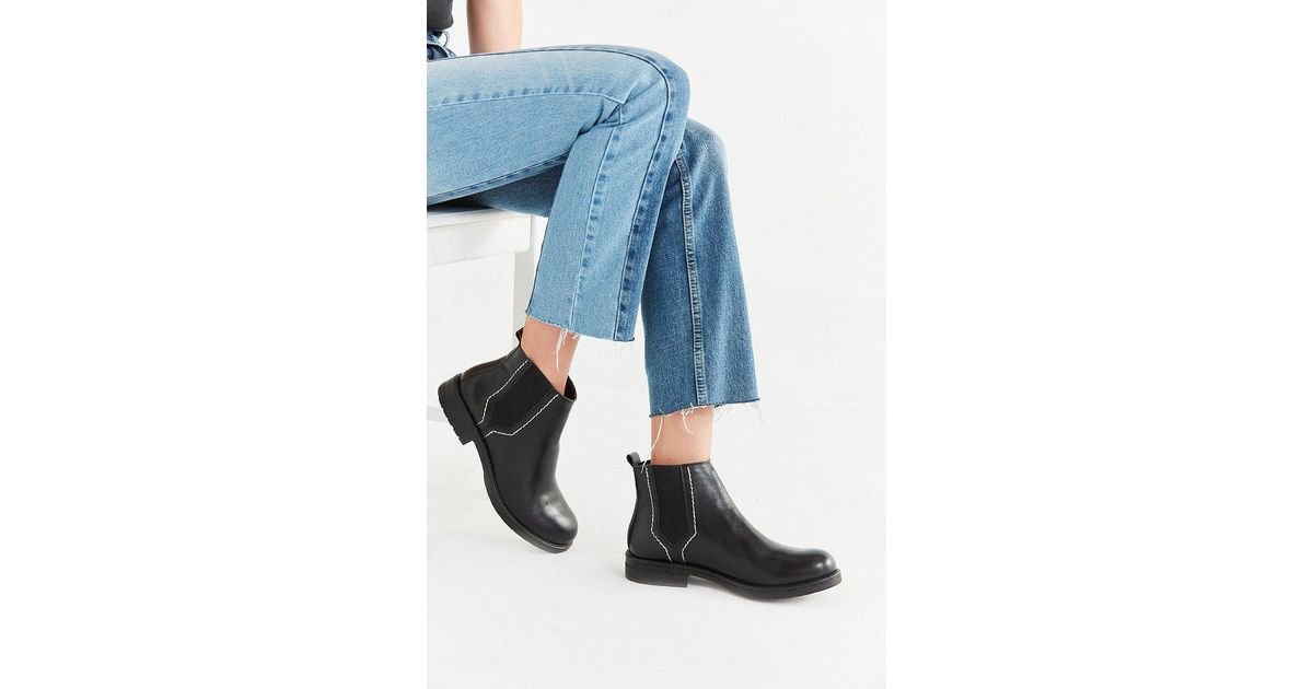 6911c91c0437 Lyst - Urban Outfitters Maci Pop Stitch Chelsea Boot in Black