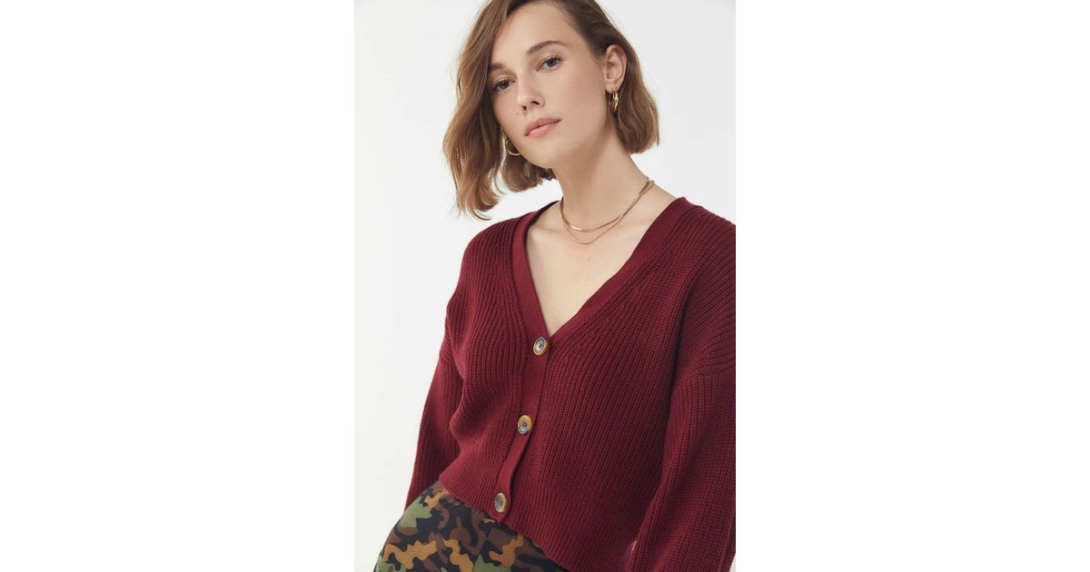 ac21a577aad97 Lyst - Urban Outfitters Uo Kai Cropped Cardigan