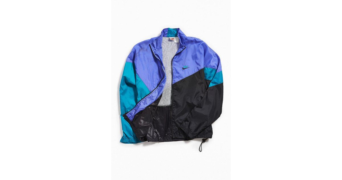 Lyst - Urban Outfitters Vintage Nike Purple + Teal Windbreaker Jacket in  Black for Men ec5fbfae9