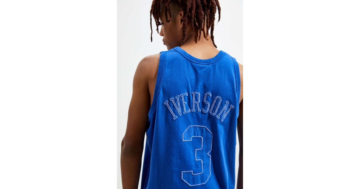 1b7662de Mitchell & Ness Philadelphia 76ers Allen Iverson Washed Out Basketball  Jersey in Blue for Men - Lyst