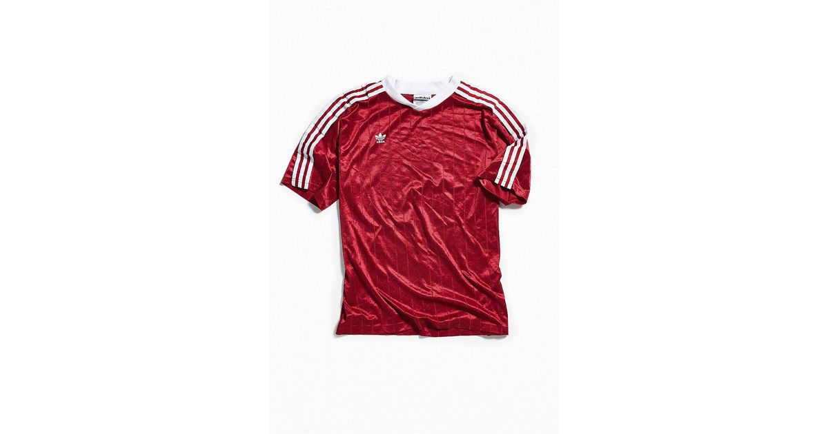 563d14ad1 Urban Outfitters Vintage Adidas Burgundy Soccer Jersey in Red for Men - Lyst