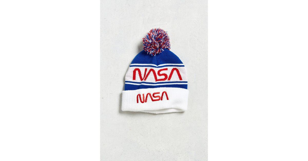 Urban Outfitters Nasa Pom Beanie in Blue for Men - Lyst c4c5335c376
