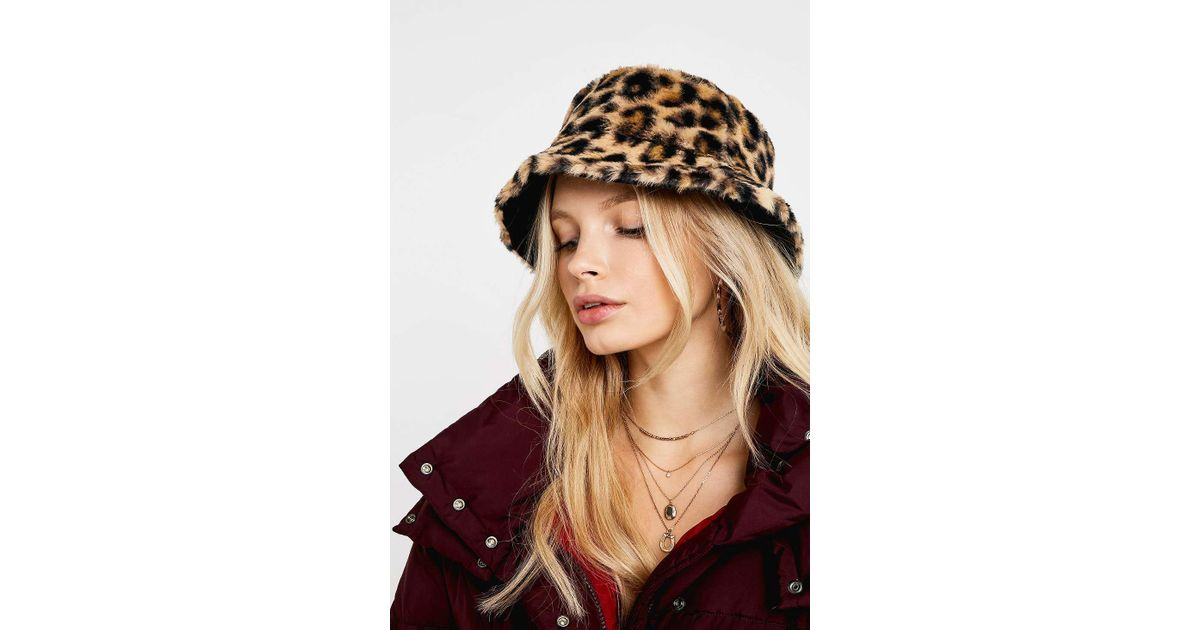 Urban Outfitters Uo Reversible Leopard Print Faux Fur Bucket Hat - Womens  All in Brown - Lyst 11ceb2dd4d6