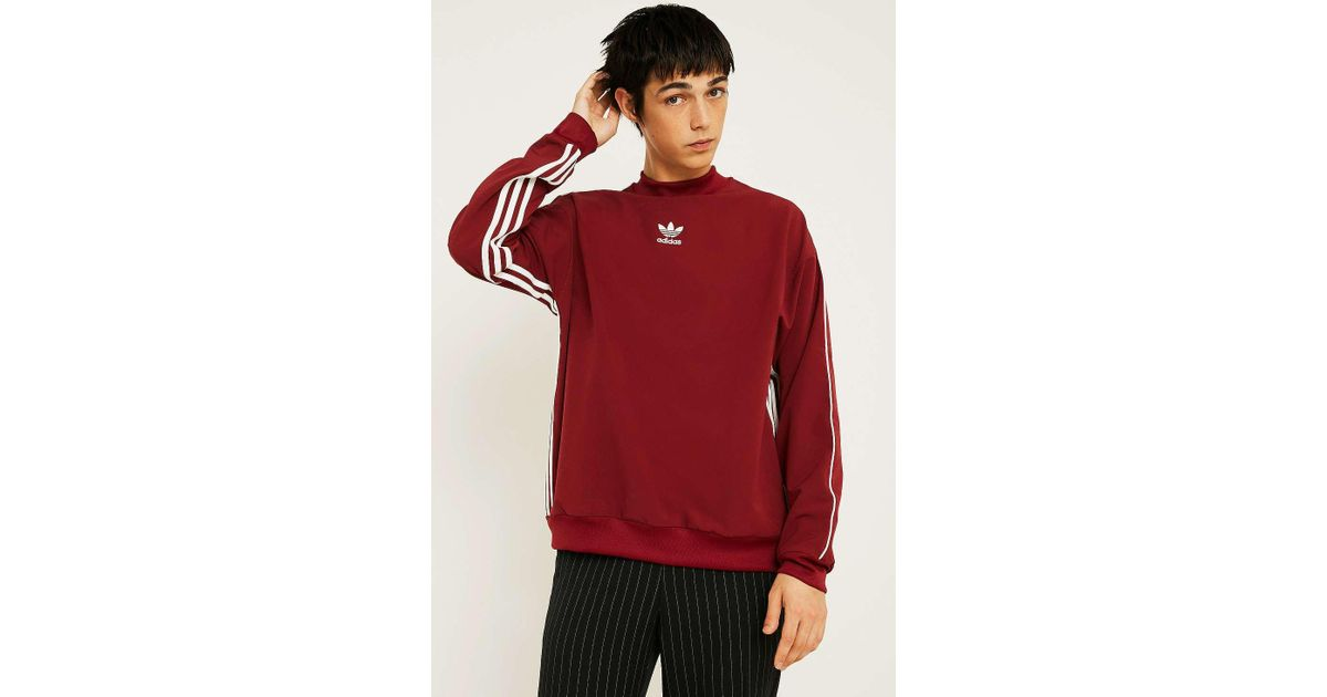 24983ee46c adidas Authentic Stripe Maroon Crew Neck - Mens S in Red for Men - Lyst