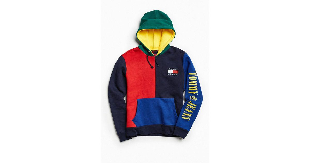 b4c55998 Tommy Hilfiger Tommy Hilfiger '90s Colorblock Hoodie Sweatshirt in Blue for  Men - Lyst