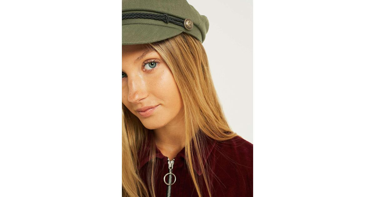 68714eb9383 Urban Outfitters Uo Baker Boy Khaki Cap - Womens All in Green - Lyst