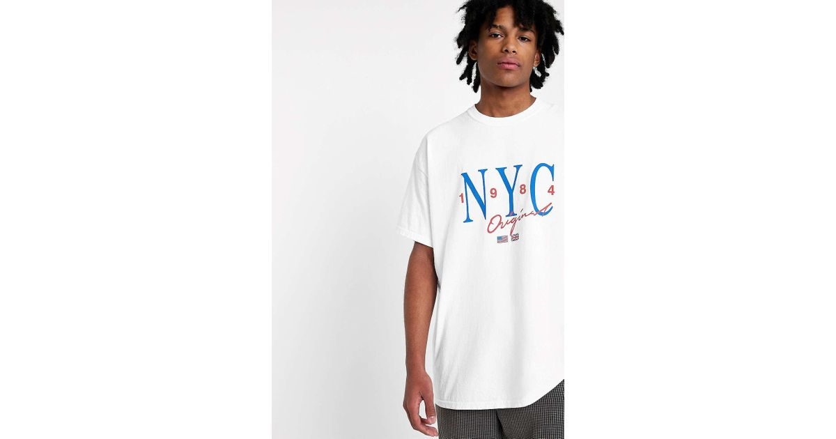 Urban Outfitters Uo Nyc Washed White T-shirt - Mens L in White for Men -  Lyst 34a5f07002f