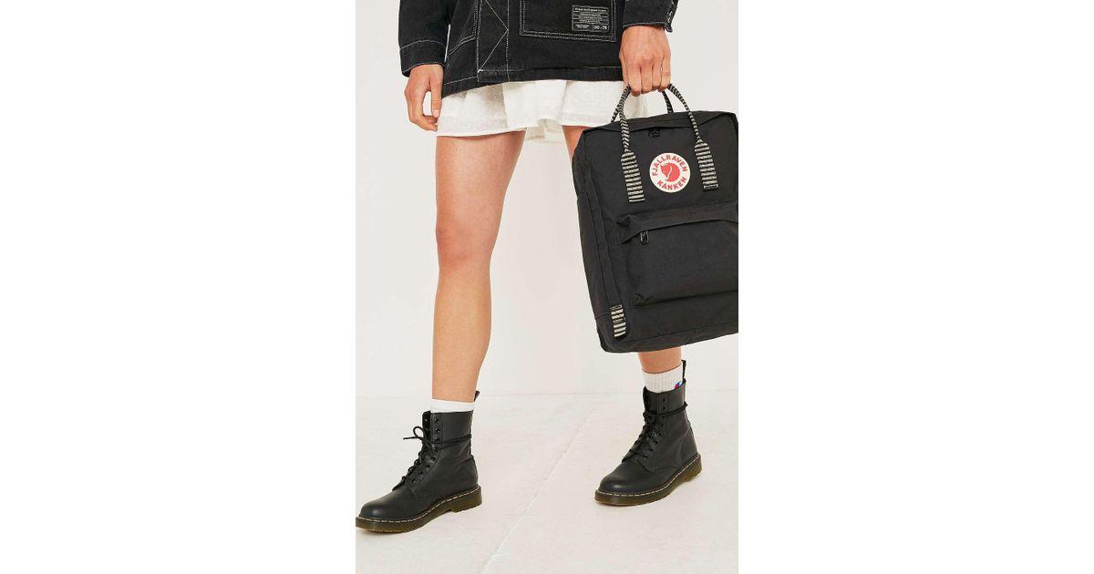 612f99a99620 Fjallraven Kanken Black Stripe Handle Backpack - Womens All in Black - Lyst