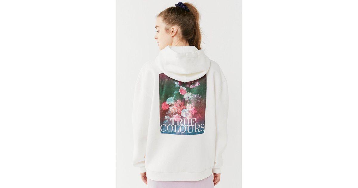 46aa3bdfde620 Lyst - Urban Outfitters True Colors Hoodie Sweatshirt in White