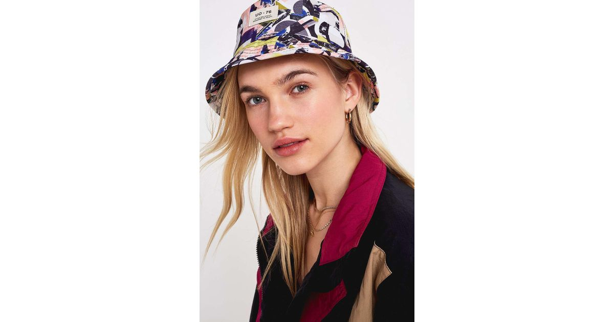 c3c98670180 Urban Outfitters Uo  80s Printed Bucket Hat - Womens All - Lyst