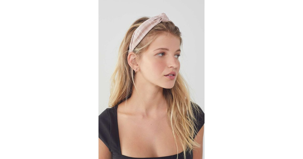 Lyst - Urban Outfitters Top Knot Headband in Pink 833e580e940