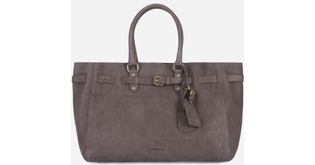 f5c7519781 Vanessa Bruno Nubuck Leather Lune Cabas Tote Bag - Lyst
