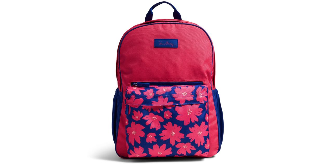 7842be266f Lyst - Vera Bradley Large Colorblock Backpack in Red
