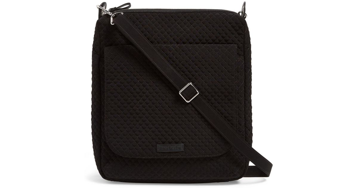 Lyst - Vera Bradley Carson Solid Cross-body Mailbag in Black 1698e3882