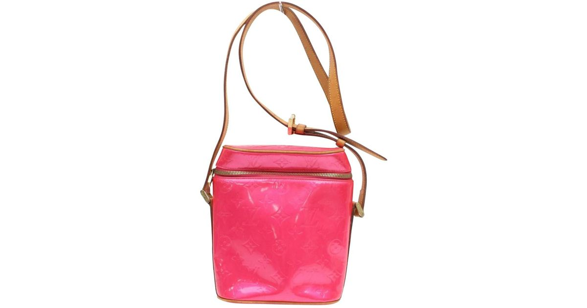 f9a281703a51 Lyst - Louis Vuitton Pink Patent Leather Handbag in Pink