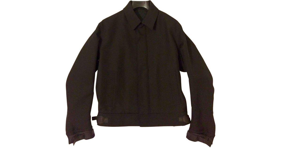 697b289ac Ferragamo - Black Wool Jacket for Men - Lyst