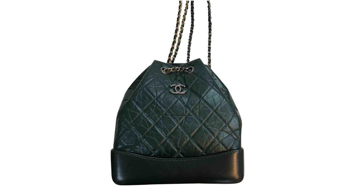 0c55a07b2d9a Lyst - Chanel Gabrielle Leather Backpack in Green