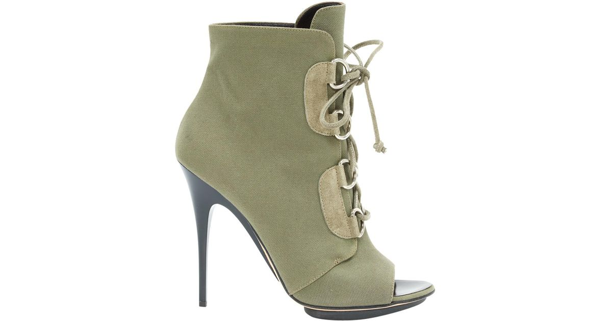Pre-owned - Cloth lace up boots Giuseppe Zanotti Outlet Low Shipping 9tCyX9INq